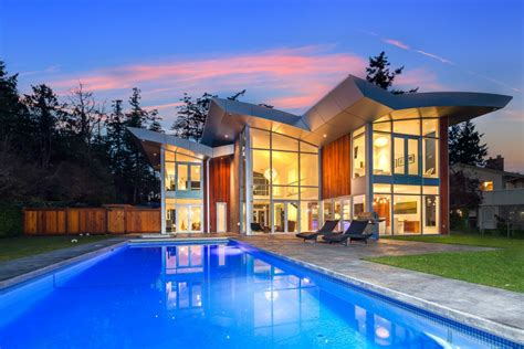 modern home design victoria bc waterfront house with remarkable modern architectural design