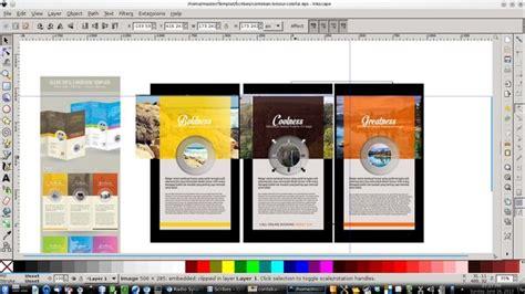 format gambar desain desain brosur contekan 2 colorful template tutorial
