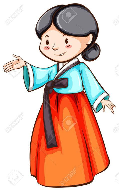 clipart korean korean clipart korean person pencil and in color korean