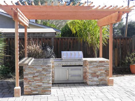 diy outdoor kitchen ideas cheap ideas for an outdoor kitchen with pergola
