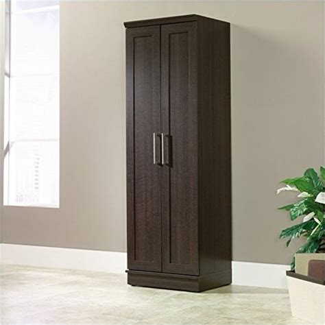 sauder homeplus basic storage cabinet wood storage cabinets with doors and shelves home