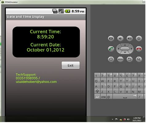 android get current time display current date and time demo in android free source code tutorials and articles