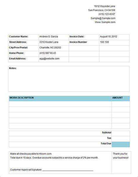 15 best invoice templates to create your first invoice 15 best invoice templates to create your first invoice