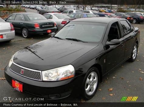 2003 saturn l series black 2003 saturn l series l300 sedan black interior