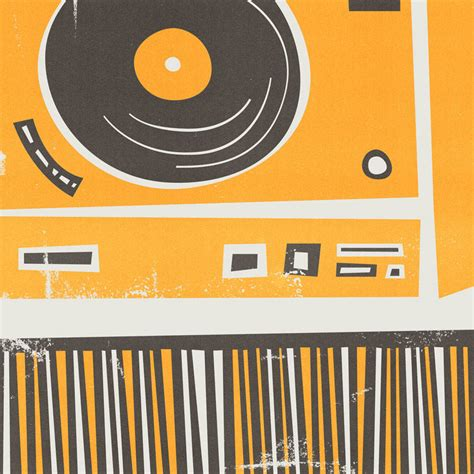 decks records vinyl record deck print by fox velvet