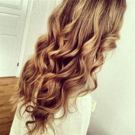 brown curly hair with highlights perfect long curly hair with blonde and brown blended