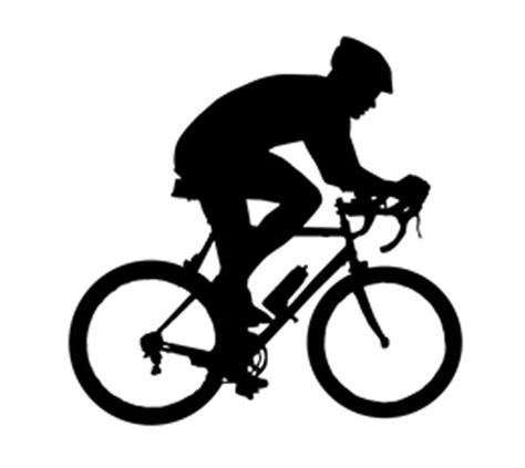 Home Decor Daily Deals by Sport Silhouette Cycling Bicyclist Car Tablet Vinyl