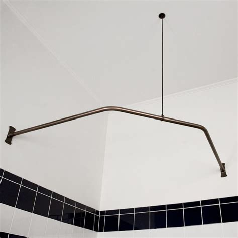 corner shower curtain rod ceiling support pin by teresa snyder vincent on for the home pinterest
