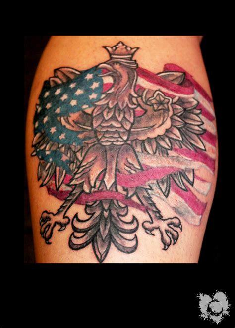 polish flag tattoo designs eagle american flag best eagle 2018