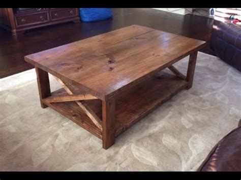How To Make A Rustic Coffee Table With A Bottom Shelf Ana How To Make A Rustic Coffee Table