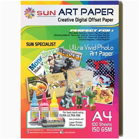 Brosur A4 Artpaper Dua Sisi 1 Jual Sun Kertas Paper A4 150 Gsm Isi 100 Lembar