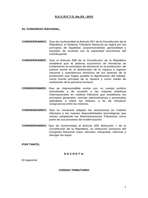 codigo tributario 2016 ecuador honduras proyecto codigo tributario 2016