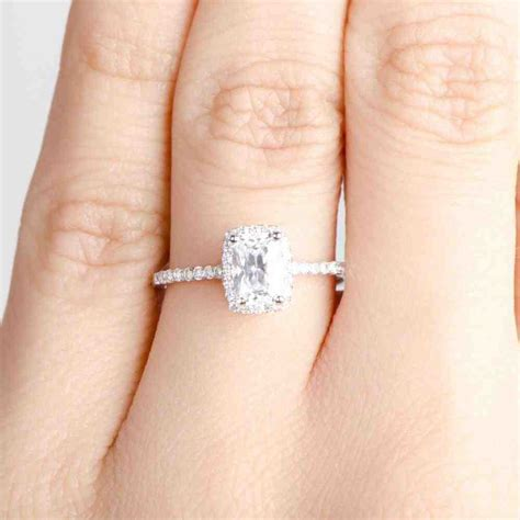 beautiful emerald cut engagement rings wedding and