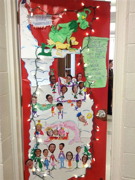 the grinch classroom door door decor pinterest