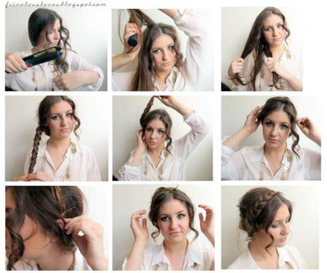 women braided 1930 style hair vintage braided updo tutorial instruction latest hair