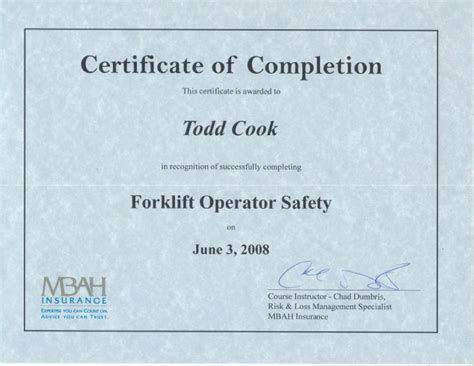 forklift operator certification card template forklift certification cards blank images