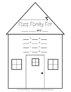 fact family house classroom freebies fact family house