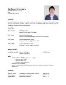 Example Of Resume by Sample Resume For Ojt