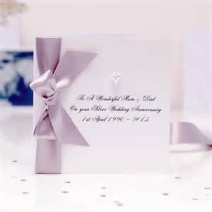 luxury silver anniversary cards luxurious crafted and personalised just for you for