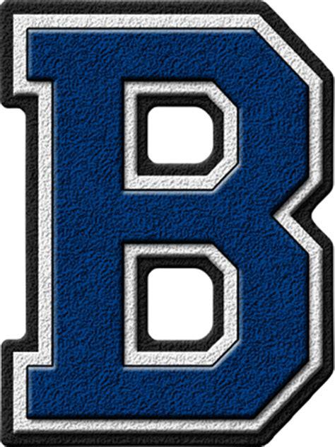 the b presentation alphabets royal blue varsity letter b
