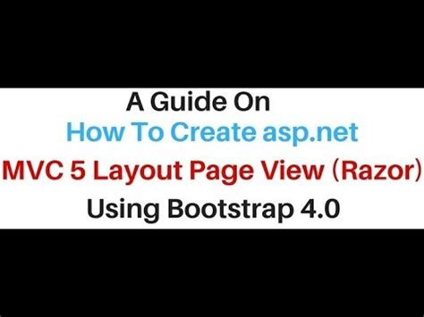 how to remove layout from view in mvc mvc layout page view razor in asp net using bootstrap 4