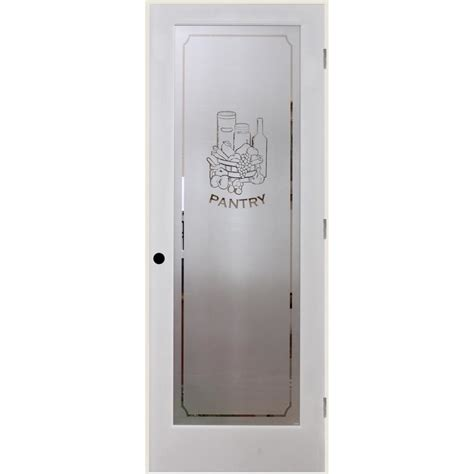 Prehung Interior Door With Glass Shop Reliabilt Pantry Solid Frosted Glass Single Prehung Interior Door Common 24 In X 80