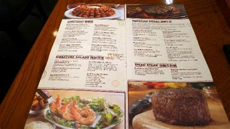 outback steak house menu outback menu picture of outback steakhouse hong kong tripadvisor