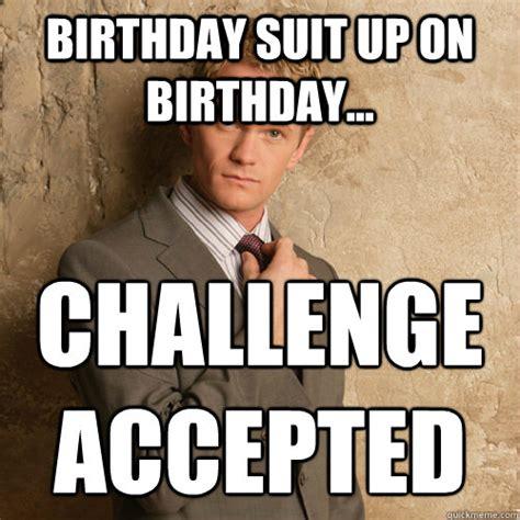 Suit Meme - barney stinson challenge accepted meme memes