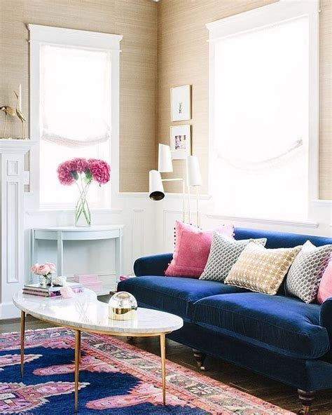 buying navy blue couch living room