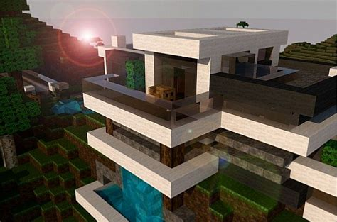 Blueprints For My House modern mountain house minecraft project