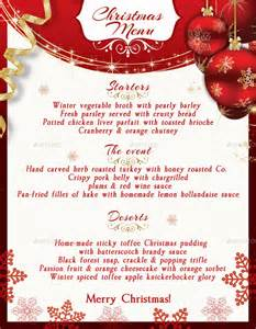 30 christmas menu templates free sample example format