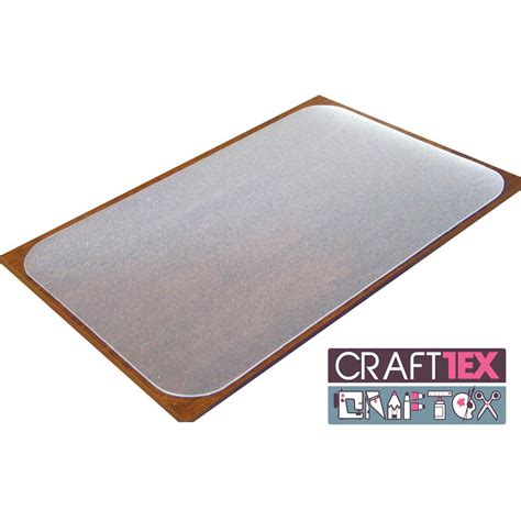 Clear Desk Pad For Wood by Craftex Ultimate Table Protector With Anti Slip Coating Polycarbonate Clear 35 X