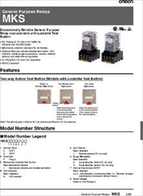 Relay Mks2p 8kaki 24vdc 10a Original Omron mks2p ac120 datasheet the omron general purpose relays mks are exceptionally