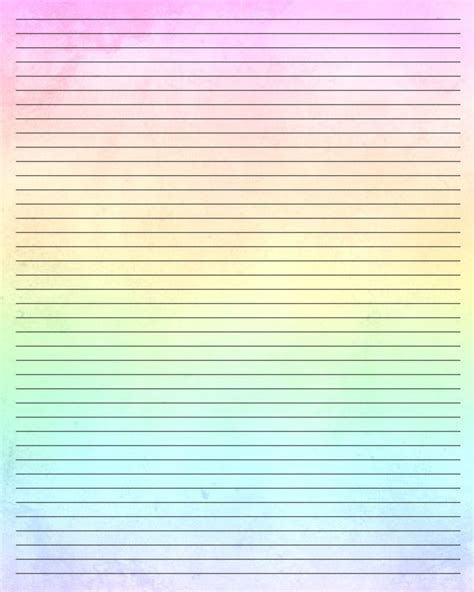 rainbow writing paper printable writing paper by aimee valentine art d7tf40k jpg