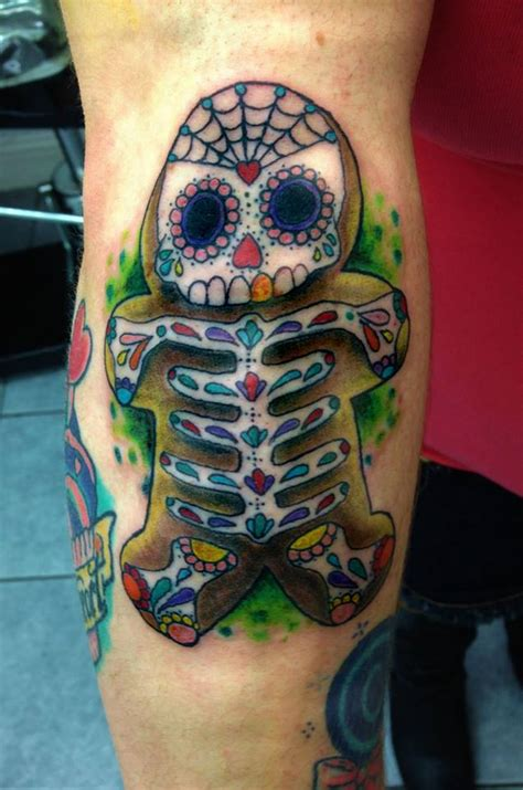 tattoo artist hashtags day o the dead gingerbread by phantomphreaq on deviantart