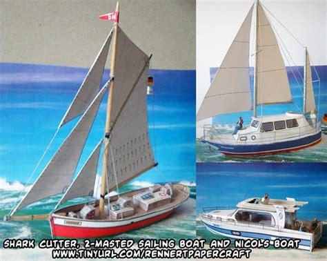 Papercraft Boat - ninjatoes papercraft weblog d l shark cutter nicols