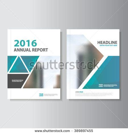 library annual report template triangle blue vector annual report leaflet brochure flyer