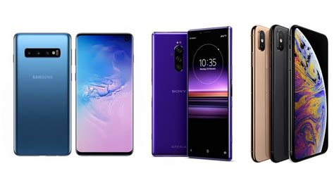 galaxy s10 plus vs xperia 1 vs iphone xs max chip