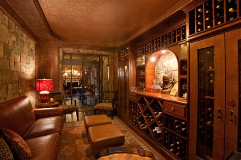 Home Wine Tasting Room Design Wine Room Traditional Wine Cellar Las Vegas By