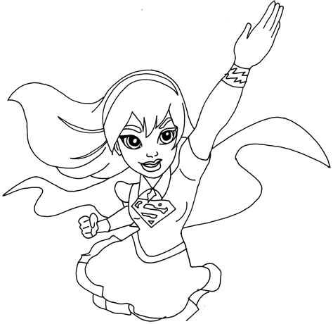 coloring page supergirl coloring pages whataboutmimi coloring home