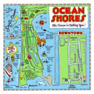 Ocean Shores Washington Map by Fun Maps Usa