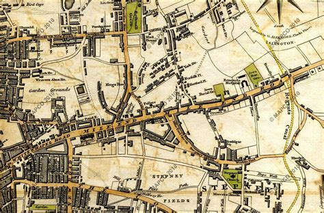 House Site Plan map of london 1817 by william darton