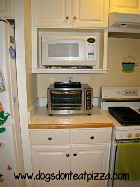 kitchen cabinet with microwave shelf the finished kitchen renovation dogs don t eat pizza