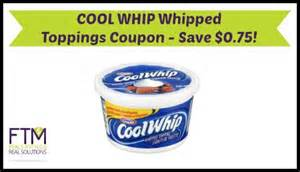 cool whip coupons cool whip coupon whipped toppings as low as 0 81 ftm