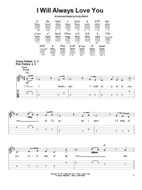 Buku Houston I Will Always You i will always you by houston easy guitar tab guitar instructor