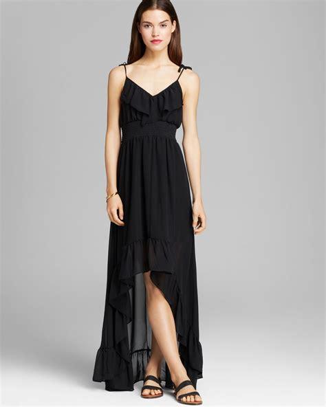 black chiffon maxi skirt 100 images guess by guess maxi dress chiffon ruffle in black lyst