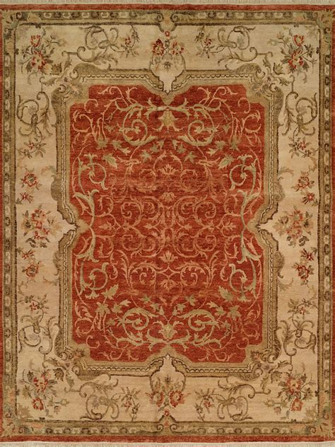 Tuscan Style Rugs by Regal Tuscan Cruise 49306 Rust Ivory