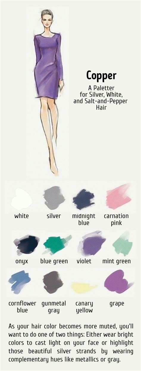 best colors to wear ith salt and pepper hair 23 best colors to wear with gray hair images on pinterest