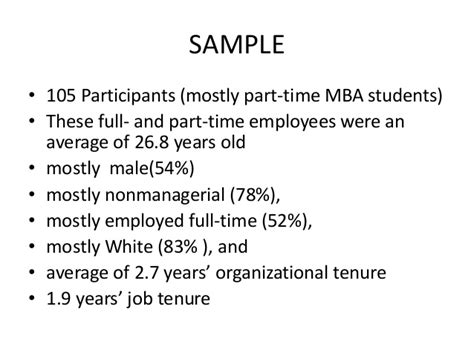 Part Time Mba From H1 To F1 by Organizational Cynicism