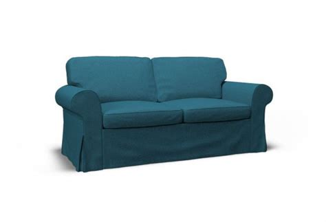 turquoise couch cover ektorp two seat sofa cover event turquoise blue by